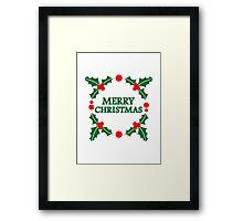 Merry christmas xmas Framed Print