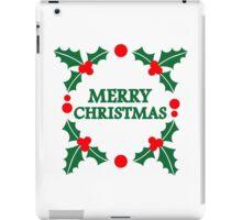 Merry christmas xmas iPad Case/Skin