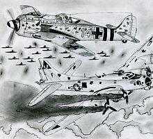 FW 190A8 vs B-17G by warrior1944