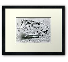 FW 190A8 vs B-17G Framed Print