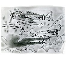 FW 190A8 vs B-17G Poster