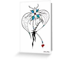 Earth Woman 8 - drawing by Valentina Miletic Greeting Card