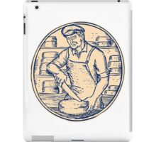 Cheesemaker Cutting Cheddar Cheese Etching iPad Case/Skin