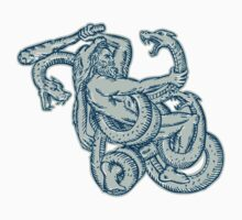 Hercules Fighting Hydra Club by patrimonio