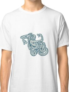 Hercules Fighting Hydra Club Classic T-Shirt