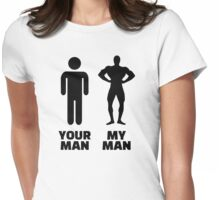Your man my man Womens Fitted T-Shirt