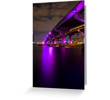 MacArthur Causeway at Night Greeting Card