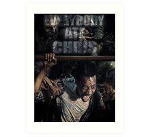Everybody ate Chris( The Walking Dead ) Art Print