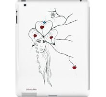 Earth Woman 10 - drawing by Valentina Miletic iPad Case/Skin