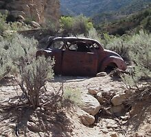 Old Rusty Antique Car ~ Digital Art by roadsidestills