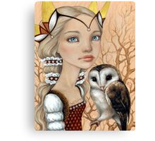 Owl Maiden Canvas Print
