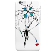 Earth Woman 8 - drawing by Valentina Miletic iPhone Case/Skin