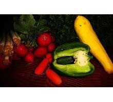 Eat Your Veggies! Photographic Print