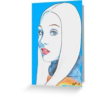 Maddie Ziegler Pencil Portrait Greeting Card