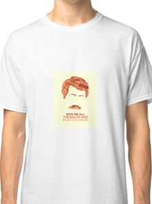 Ron Swanson (Nick Offerman) - A Breakfast Hero Classic T-Shirt