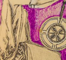 Vanna White Wheel of Fortune Original Art Pen Ink Pat Sajak host Game Show 1983 Sticker