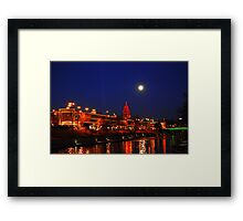 Full Moon over the Country Club Plaza in Kansas City. Framed Print