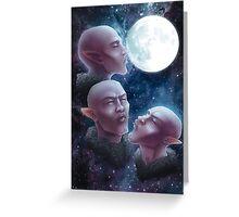 Three Elf Moon Greeting Card