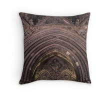 St Giles Church Doorway Throw Pillow