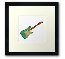 Low Poly - Guitar Framed Print