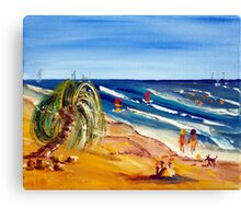 Lover's Paddle Canvas Print