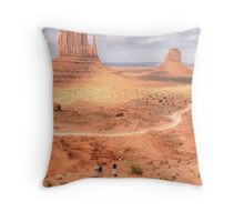 Photographing Mittens - Monument, UT Throw Pillow