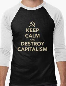 Keep Calm And Destroy Capitalism Men's Baseball ¾ T-Shirt