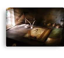 The drafting table Canvas Print