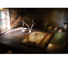 The drafting table Photographic Print