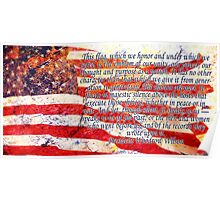 Woodrow Wilson Quote on Flag Poster