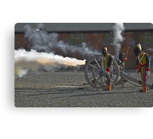 Cannon Flame Canvas Print