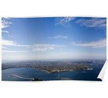 Aerial view of Perth area Poster