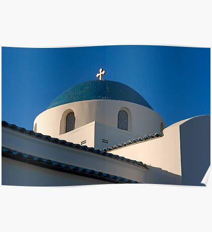 Greek Orthodox Church, Santa Barbara, California Poster