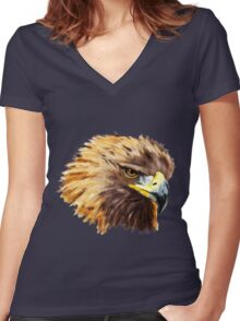Golden Eagle (Shirt) Women's Fitted V-Neck T-Shirt