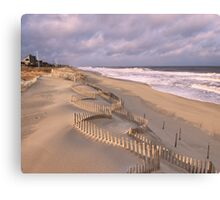 Jagged Dune Fence Canvas Print