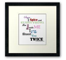 sugar and spice b Framed Print