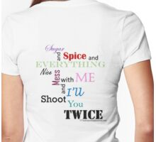 sugar and spice b Womens Fitted T-Shirt