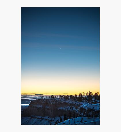 Moonrise Portrait – Bryce Canyon National Park, Utah Photographic Print