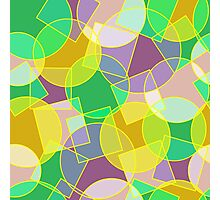 Stained glass colorful geometric mosaic pattern Photographic Print