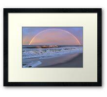 Rainbow Surfer Framed Print