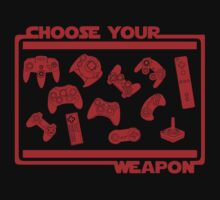 Choose Your Weapon Video Game Kids Tee