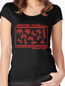 Choose Your Weapon Video Game Women's Fitted Scoop T-Shirt