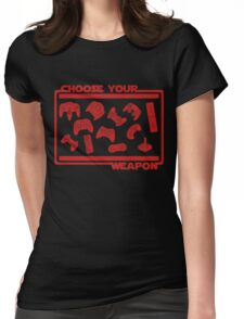 Choose Your Weapon Video Game Womens Fitted T-Shirt