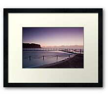 Sunrise Over The Bilgola Beach Rock Pool Framed Print