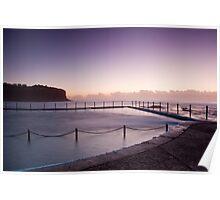 Sunrise Over The Bilgola Beach Rock Pool Poster