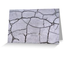 Cracked Concrete Pavement Patterns Greeting Card