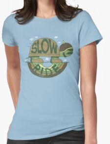 Slow Ride Womens Fitted T-Shirt