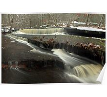 First Snow at Stepstone Falls Poster