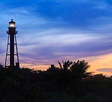 Sanibel Lighthouse Sunrise by Kenneth Keifer