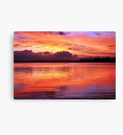 My First Digital SLR Sunset Canvas Print